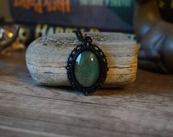 "Necklace ""Black Moss"""