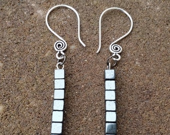 Smoky Matchstick Earrings