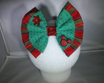 Mickey Inspired Pointsetta Hair Bow