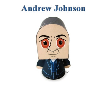 President Andrew Johnson Paper Toy Model w/Movable Parts