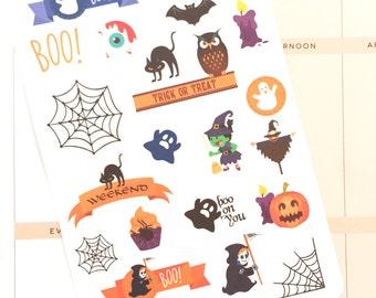 Halloween Stickers, Halloween Planner Stickers UK, Fall Stickers for Erin Condren, October Stickers, Scrapbook Stickers, eclp, Bujo Stickers