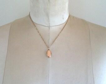 Vintage Petite Gold Filled Locket Pendant Necklace