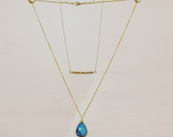 Layered Turquoise Gold Necklace