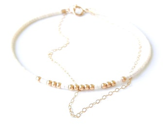 Bridesmaid Gift Bridesmaid Jewelry Delicate gold Bracelet Maid of Honor Gift