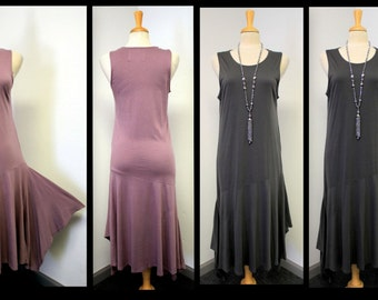 Asymmetrical Lagenlook Designer Long Dress and Much More.Regular Size S/M/L