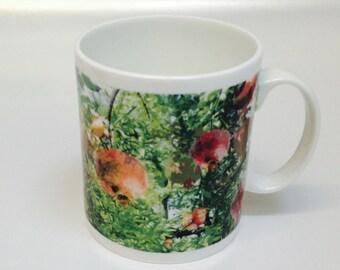 Pomegranate Mugs Set Of 4