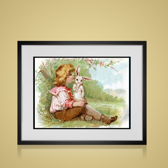 Vintage Wall Decor Nursery : Framed wall art vintage nursery print free by picturebypicture