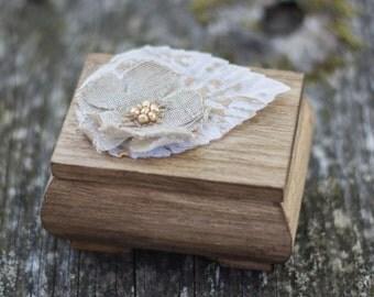 Wedding Ring Box Rustic Ring Box Bearer Autumn Wedding Decoration Moss Ring Holder Ring Pillow Wooden Box Fall Wedding decoration
