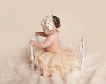 lace baby skirt, lace toddler skirt, lace tutu, pettiskirt, champagne skirt, infant lace outfit, pettiskirt, baby tutu, baby pettiskirt