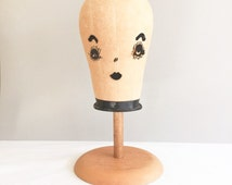 Vintage French Hat Form Stand - Millinery