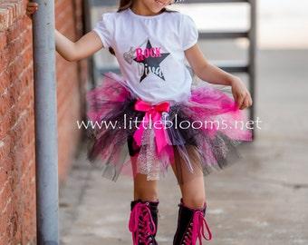 Rock Star Tutu, Cheetah Tutu, Zebra Tutu, Animal Print Tutu, Rock Star Birthday, Girls Birthday Tutu, Rock Star Skirt, Hot Pink Zebra Tutu