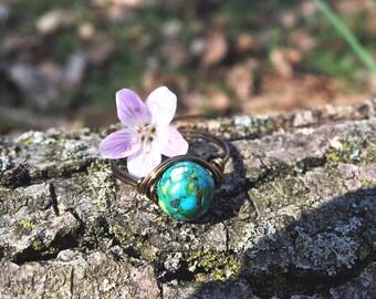 Ring, handmade ring, Sediment Jasper ring, Sea Sediment Jasper jewelry ,wire ring, Jasper stone ring, gemstone ring, Jasper stone jewelry