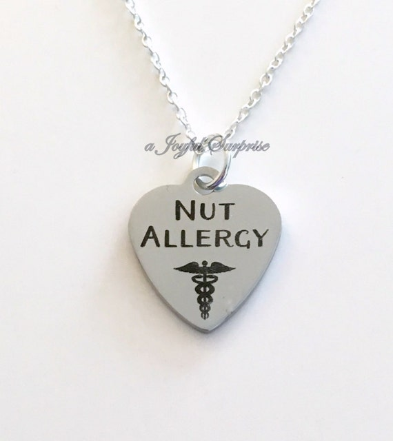 nut allergy necklace alert jewelry gift for peanut