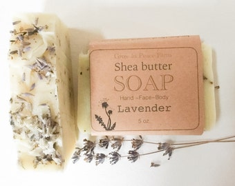 Soothing Lavender - Shea Butter Soap, All Natural Soap, Cold Process Soap, handmade soap, homemade soap