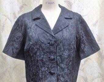 Vintage 1950s B Altman Black Dinner Jacket/Size Large