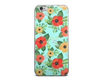Boho Floral Phone Case | Watercolor iPhone 6 Case | Summer Floral Phone Case | Poppy Flower Pattern | Floral Watercolor Pattern |