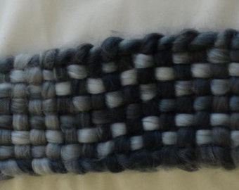 Hand Woven Scarf, Charcoal