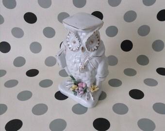 Salutatorian Hoot~Wise Owl Figurine~Vintage~China