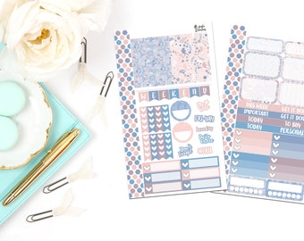 PK8-Rose Quartz & Serenity Personal Planner Sticker Kit