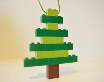 Lego Christmas Tree Ornament - Handmade Lego Christmas Tree Figure