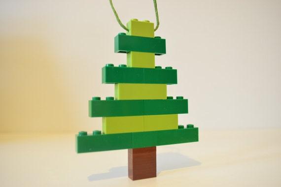 Lego christmas tree ornament handmade lego christmas tree figure