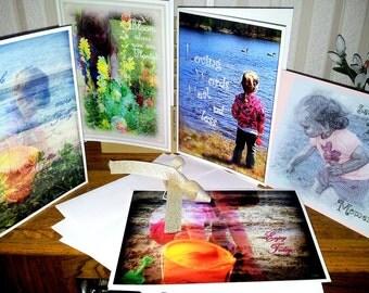 Simply Blessed Greeting Cards~Photo Art /Set includes 5 —5x7 Cards
