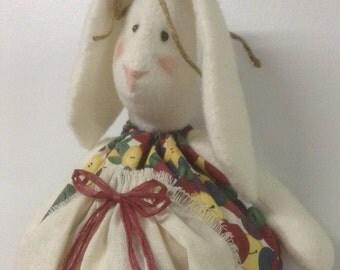 bag holder,plastic bag holder,rabbit bag holder,rabbit,country rabbit,primitive rabbit,dog bag holder