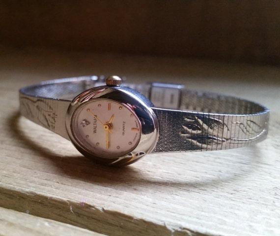 Ladies Waltham Watch. Vintage Watch. Waltham Watch. Diamond Watch. Silver Watch. Womens Watch. Watch Present for Women. Ladies Watch Present