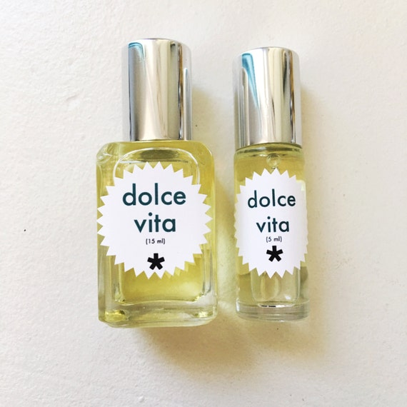 natural vegan perfume dolce vita fragrance by twinkleapothecary. Black Bedroom Furniture Sets. Home Design Ideas