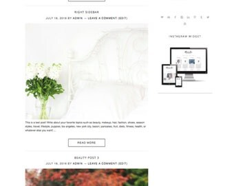 Wordpress Theme | Responsive and SEO Optimized | Genesis Child Theme | Fashion, Lifestyle, Beauty, Travel, DIY, Parenting, Health, Mom Blog
