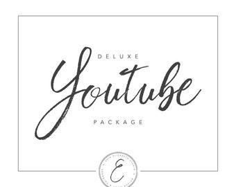 DELUXE YouTube Package   Custom YouTube Banner   Custom Channel Art
