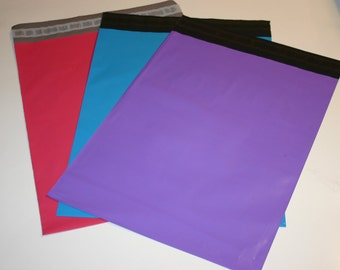 60 10x13 Poly Mailers  Purple Bright Blue Raspberry Colored Self Sealing Envelopes Easter Spring