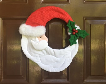 Vintage Design Santa Crescent Wreath