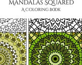 Adult Coloring Books: Mandalas Squared - Mandala Art - Coloring Books for Grown Ups - Printable Coloring Pages - Instant Download
