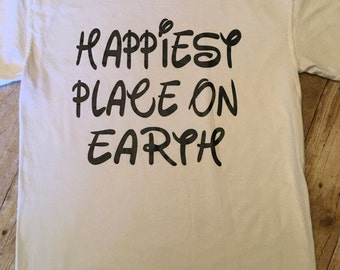 Disney shirt for adults - Happiest place on earth shirt - Women's Disney shirt - Women's Happiest Place On Earth shirt