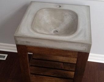 Bathroom Vanity Etsy concrete vanity | etsy