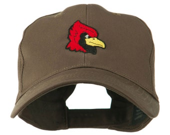 Cardinal Head Mascot Embroidered Cap