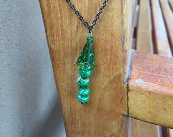 Green Swarovski Drop Necklace