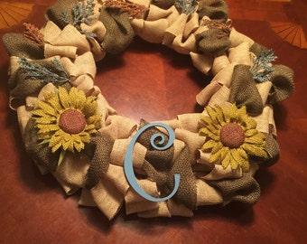 All Season Sunflower Wreath