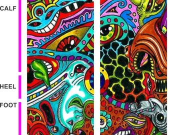 Groovy Socks- Tattoo Socks - Colorful Socks
