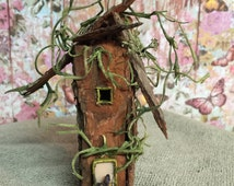 Miniature fairy house, Terrarium garden house, Miniatures, Fairy house, Faerie house miniature, Handmade miniature, Woodland cottage