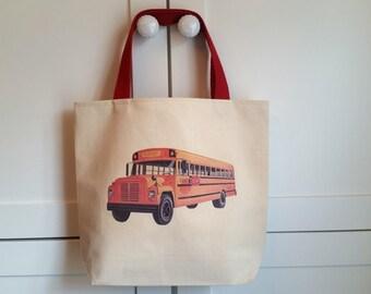 Preschool tote,Kindergarden tote,Schoolbus tote