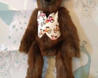 Meet Mortimer. A handmade, designer bear