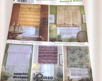 Simplicity 5210 Sewing Pattern for 5 Different Window Shade Variations DIY Home Decor Curtains and Treatments