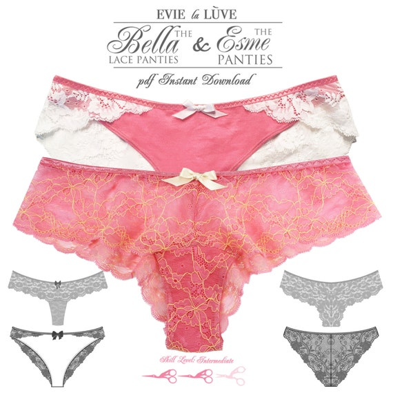 DIGITAL Lingerie Sewing Patterns - Esme & Bella Panties - pdf instant download - from EVIE la LUVE