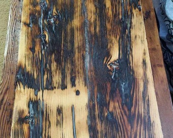 Coffee Table: reclaimed barn wood, glows in dark
