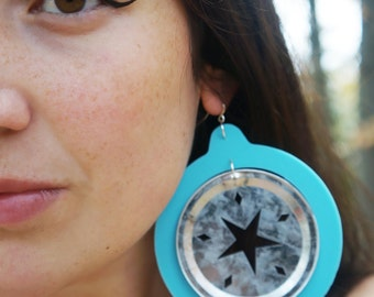 Sky Blue Starlette XL Baller Earrings