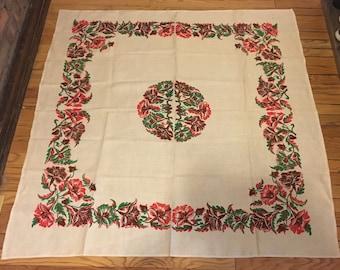 Vivid Vintage Floral Tablecloth