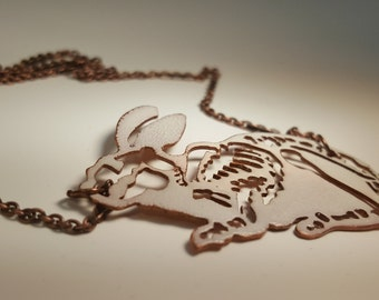Rabbit Skeleton Necklace