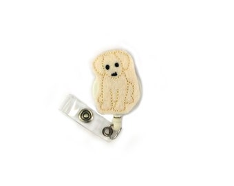 Labrador Felt Dog Retractable ID Badge Holder-Cute Badge Reel-Dog Badge Reel-Dog Badge Holder-Puppy Badge Reel-Id Badge Reel-Id Badge
